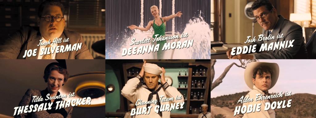 Channing Tatum, Scarlett Johansson, Alden Ehrenreich und Tilda Swinton in Hail, Caesar!