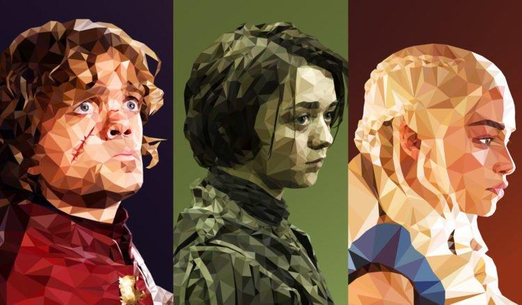 Game of Thrones Charaktere in Polygonen