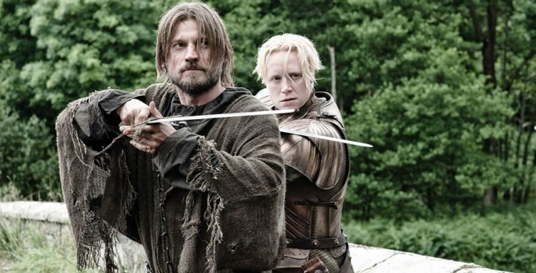 Jamie Lennister und Brienne Tarth in Game of Thrones - Staffel 3
