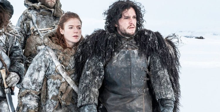 Ygritte und Jon Schnee in Game of Thrones - Staffel 3