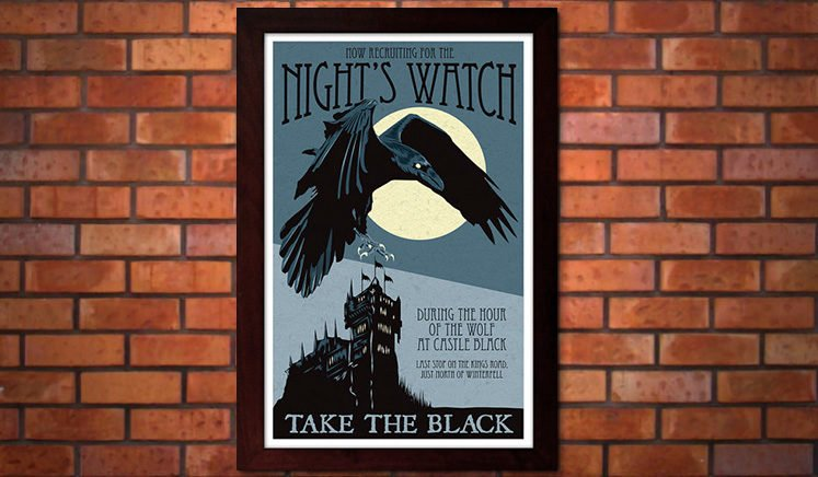 Game of Thrones Art: Night's Watch Recruiting Poster