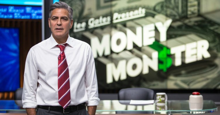 George Clooney als Moderator Lee Gates in Money Monster