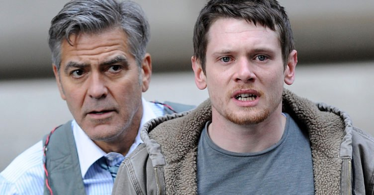 Jack O'Connell und George Clooney in Money Monster