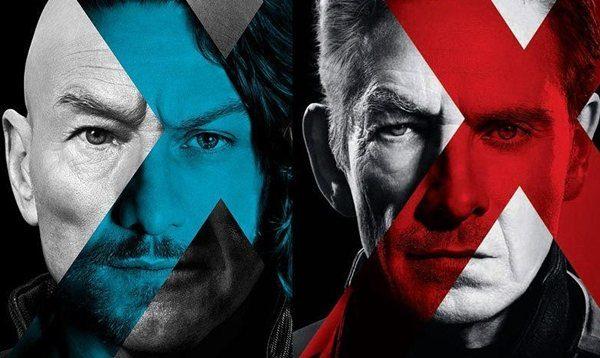 Wallpaper von X-Men: Zukunft ist Vergangenheit Professor X (Patrick Stewart, James McAvoy) und Magneto (Ian McKellen, Michael Fassbender)