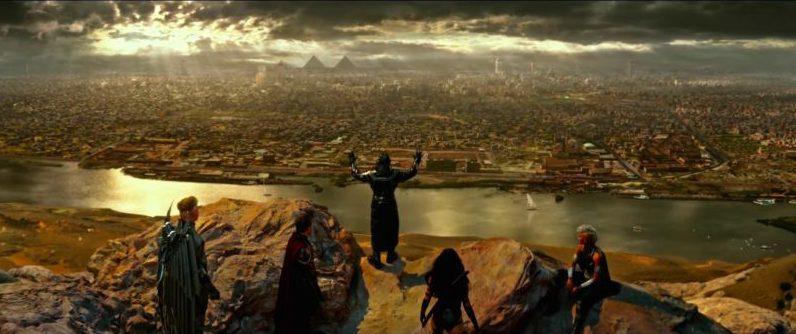 Apocalypse steht mit seinen Anhängern vor Kairo in Ägypten in X-Men: Apocalypse