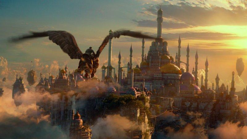 Eine Kulisse aus Warcraft: The Beginning , die eine große Stadt zeigt.