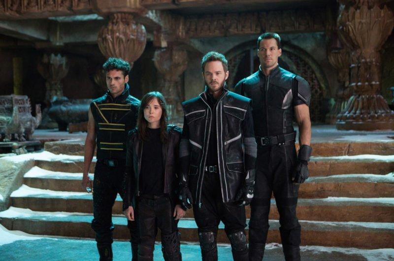 Gruppe von Mutanten aus X-Men: Zukunft ist Vergangenheit mit Kitty (Ellen Page) und Iceman (Shawn Ashmore)