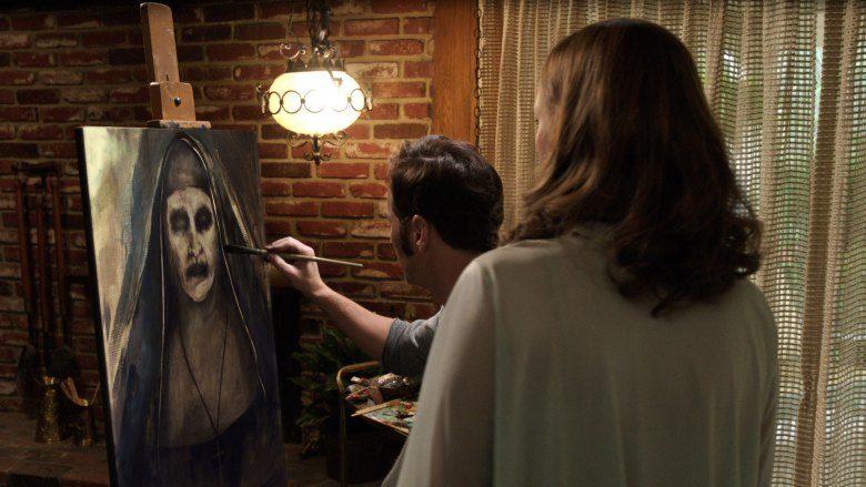 Patrick Wilson zeichnet eine NonneNonne in Conjuring 2
