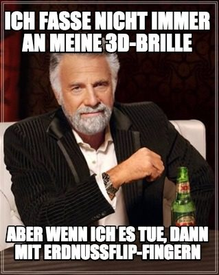 Meme über 3D Brillen: