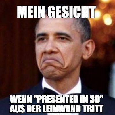 Ein Not Bad-Meme mit Obama: Mein Gesicht, wenn