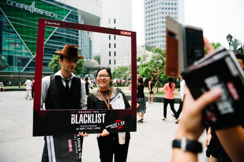 Werbung für die Serie Blacklist in Singapur