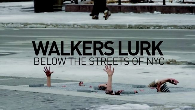 Die Kampagne Walkers Lurk für The Walking Dead in New York