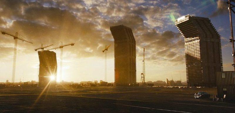 High-Rise Gebäude aus dem gleichnamigen Film von außen