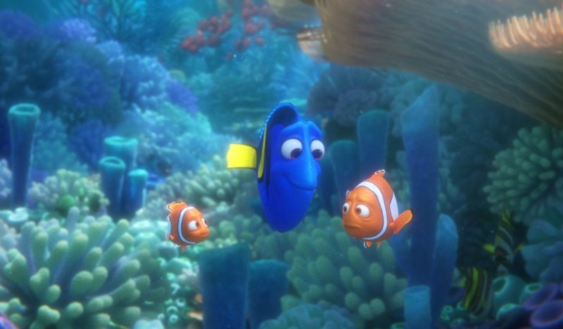 Nemo, Dorie und Marlin in Findet Dorie