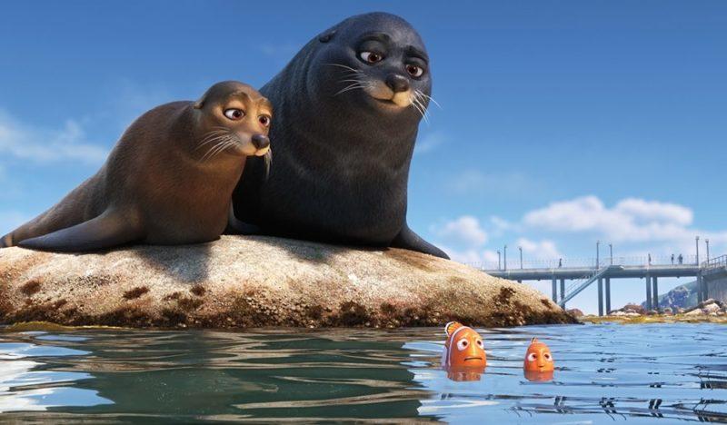 Nemo, Marlin und die Seotter in Findet Dorie