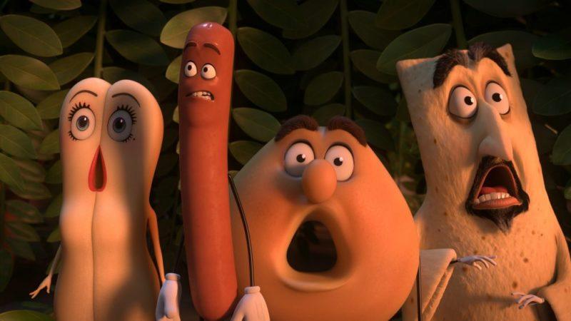 Titelbild zur Filmkritik an Sausage Party-Es geht um die Wurst