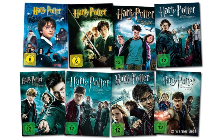 Alle DVD Cover der Harry Potter Filme