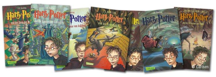 Harry Potter Bücher der Buchreihe von Joanne K. Rowling