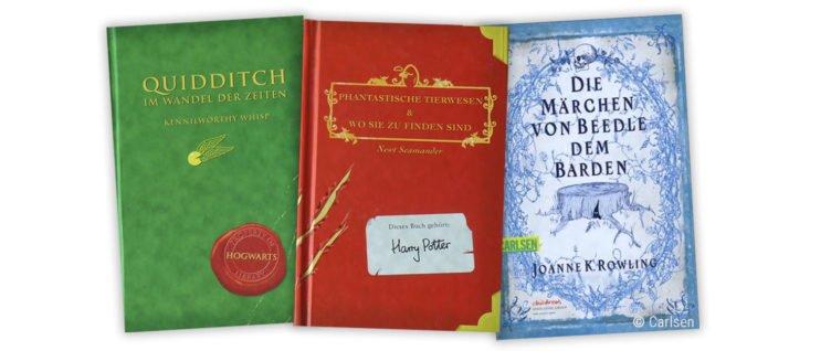 Harry Potter Ergänzungsbücher Phantastische Tierwesen Quididtch im Wandel der Zeit und Märchen von Beedle dem Barden