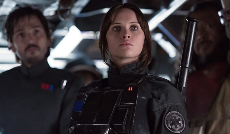 Diego Luna als Cassian und Felicity Jones als Jyn in Rogue One