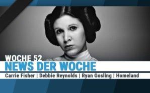 Ein Schwarz-Weiß-Bild mit Trauerschärpe zeigt Carrie Fisher als Prinzessin Leia