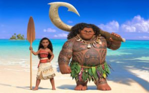 Titelbild zur Film Kritik am Disney Film Vaiana mit Vaiana und Maui am Strand