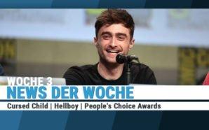 Daniel Radcliffe sitzt auf dem Podium einer Pressekonferenz auf der San Diego ComicCon 2014 und lacht ins Publikum