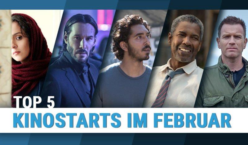 """Titelbild für die Topliste """"Top 5 Kinostarts Februar 2017"""" von 4001Reviews"""