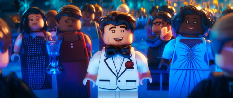 Die Lego-Figur Bruce Wayne gibt eine Gala im Film The LEGO Batman Movie