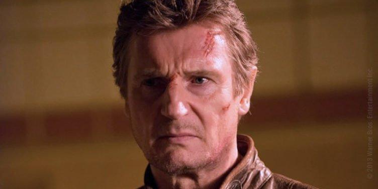Liam Neeson Gesicht ist mit Kratzern und offenen Wunden übersät in Run All Night