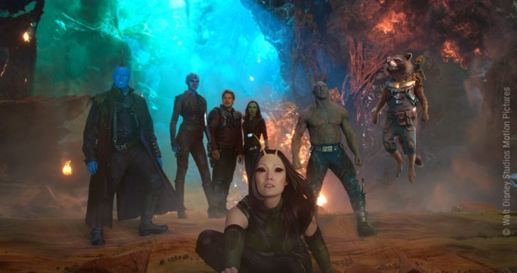 Das Team der Guardians of the Galaxy mit Star-Lord und Gamora.