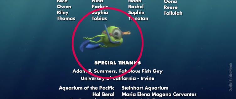 Im Abspann von Findet Nemo schwimmt ein Monster AG Monster