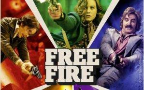 Ein Ausschnitt des Hauptplakats von Free Fire zeigt Cillian Murphy , Brie Larson und Sharlto Copley