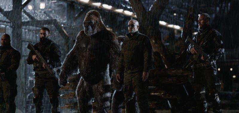 The Colonel (Woody Harrelson) in einem Arbeitslager in Planet der Affen Survival