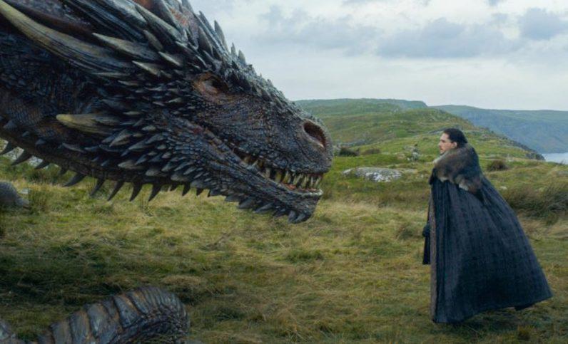 Bild für Kritik Game of Thrones Staffel 7 Ostwacht mit Drogon und Jon Snow