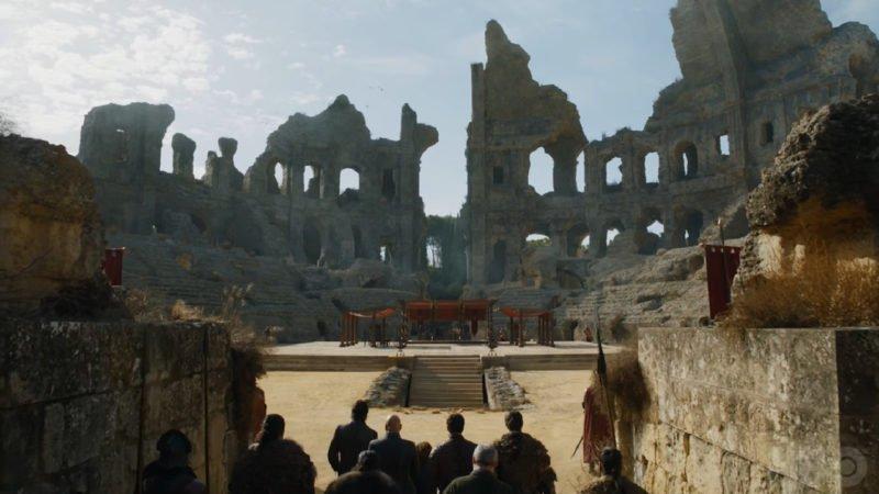 Szenenbild aus Game of Thrones Staffe 7 Kritik Folge Der Drache und der Wolf im Dragon Pit