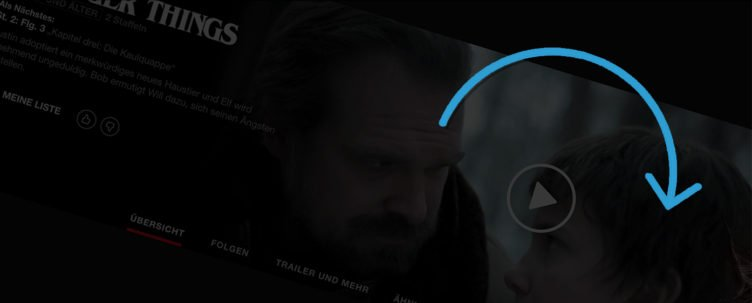 """Beim geheimen Portal ins """"Upside Down"""" auf Netflix beginnt sich die Seite zunächst zu drehen"""