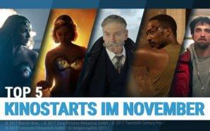Zusammenstellung von Szenenbildern der Top 5 Kinostarts im November 2017