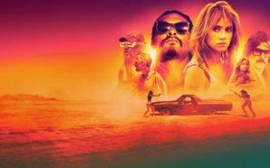 Titelbild für Kritik The Bad Batch mit Jason Momoa, Suki Waterhouse und Keanu Reeves in einer Wüste