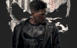 Poster für Kritik The Punisher Staffel 1 mit Jon Bernthal im Hintergrund und einer Patrone im Vordergrund
