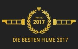 Lorbeerkranz, Filmrollen und ein Diamant sowie eine große 2017 in Gold auf einem grauen Hintergrund