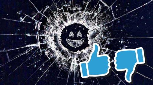 Titelbild zu Episodenguide Black Mirror mit Black Mirror Logo