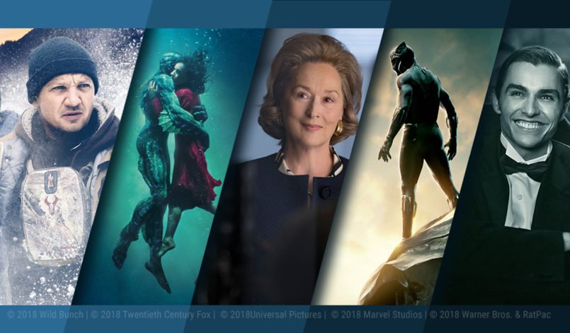 Plakate der Top 5 Kinofilme im Februar 2018