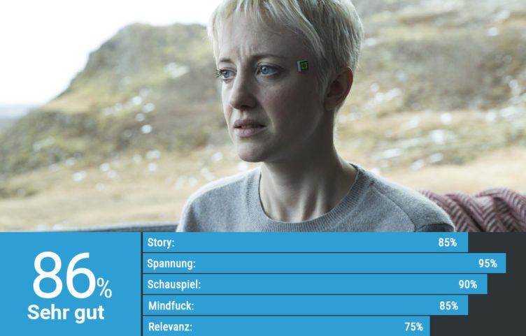 Andrea Riseborough in Black Mirror Staffel 4 Episode Krokodil