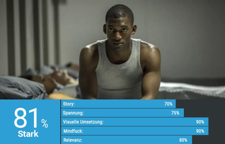 Malachi Kirby in Tank-Top in Black Mirror Staffel 3 Episode Männer aus Stahl