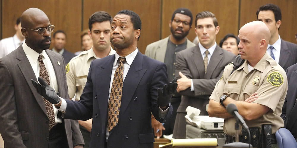 Cuba Godding Jr als O.J. Simpson in American Crime Story The People vs O.J. Simpson