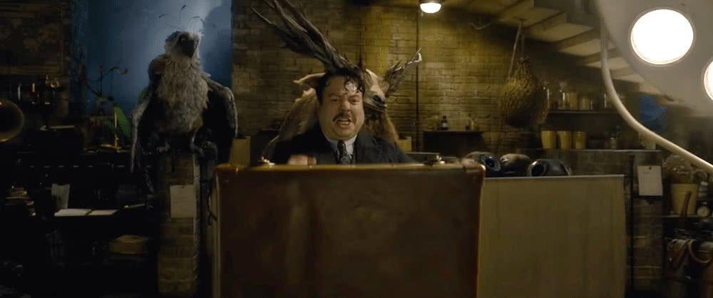 Jacob Kowalski (Dan Fogler) in einem Szenenbild für Phantastische Tierwesen Grindelwalds Verbrechen Traileranalyse
