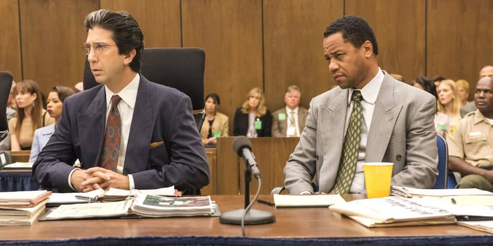 David Schwimmer und Cuba Gooding Jr in American Crime Story the People vs O.J. Simpson