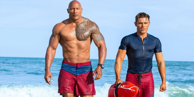 Dwayne The Rock Johnson und Zac Efron im Baywatch-Remake von 2017