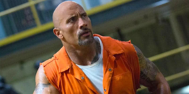The Rock als Luke Hobbs in Fast and Furious 8.